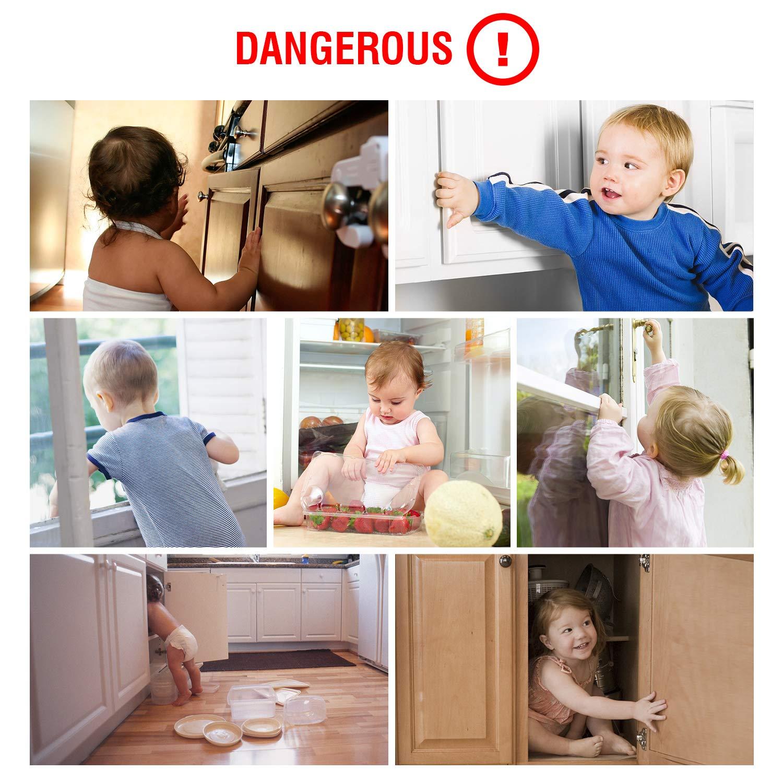 Besfair Protecciones bebes casa 3 Topes para puertas. Con 20 Protectores de esquinas Kits de Seguridad para beb/és 10 Cierres de Seguridad