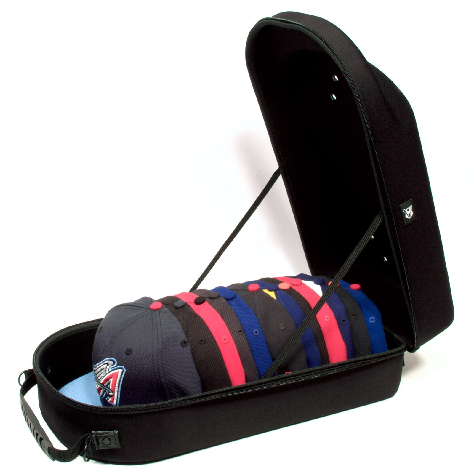Homiegear Brand Carrier Case - 12 Hats for all Caps, Snap Back, Fitted by Homiegear