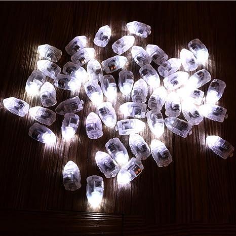 50x Luz LED Lámpara Globo Bombillas Iluminación Forma de Bala Decoración Fiesta de Cumpleaños - Blanca