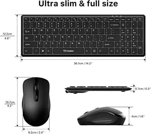 MacBook Black Notebook Computer Desktop Tablet PC Yoidesu Wireless Mouse Portable 2.4G Type-C Wireless Optical Mouse with Receiver for Laptop