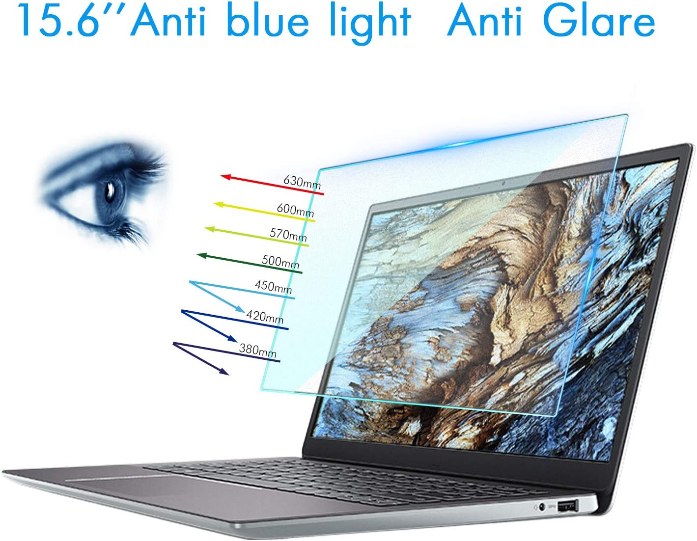 "2 PCS 17.3 Inch Matte Laptop Screen Protector,Anti Glare Filter and Anti Blue Light Screen Protector,for HP Envy/Pavilion17""/Dell Inspiron17.3""/Acer Aspire17.3 Laptop etc,Laptop Accessories (16:9)"