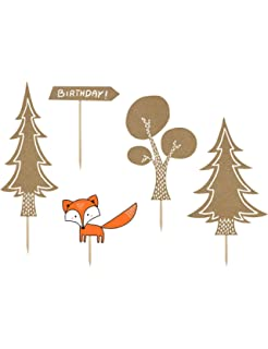 1 Diy Tischdeko Set Waldtiere Eule Fuchs Wald Pilze Amazon