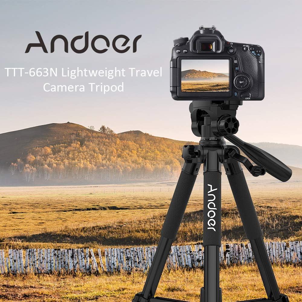 Andoer Trípode Cámara Trípode Reflex con Soporte Teléfono 360 ...