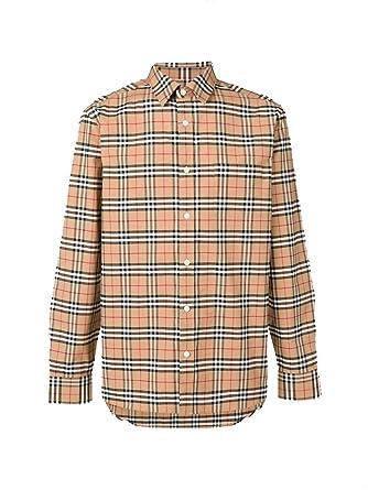 Burberry ChemiseVêtements Coton Homme Et Beige 8004832 E2IWD9H