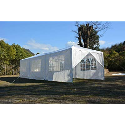 Cypress Shop Outdoor Gazebo Canopy Tent 10x30 feet Commercial Pavilion Marquee Sun Shade Shelter Protector for Lawn Yard Garden Patio Wedding Party Cater Park BBQ Events (8 sidewalls) : Garden & Outdoor