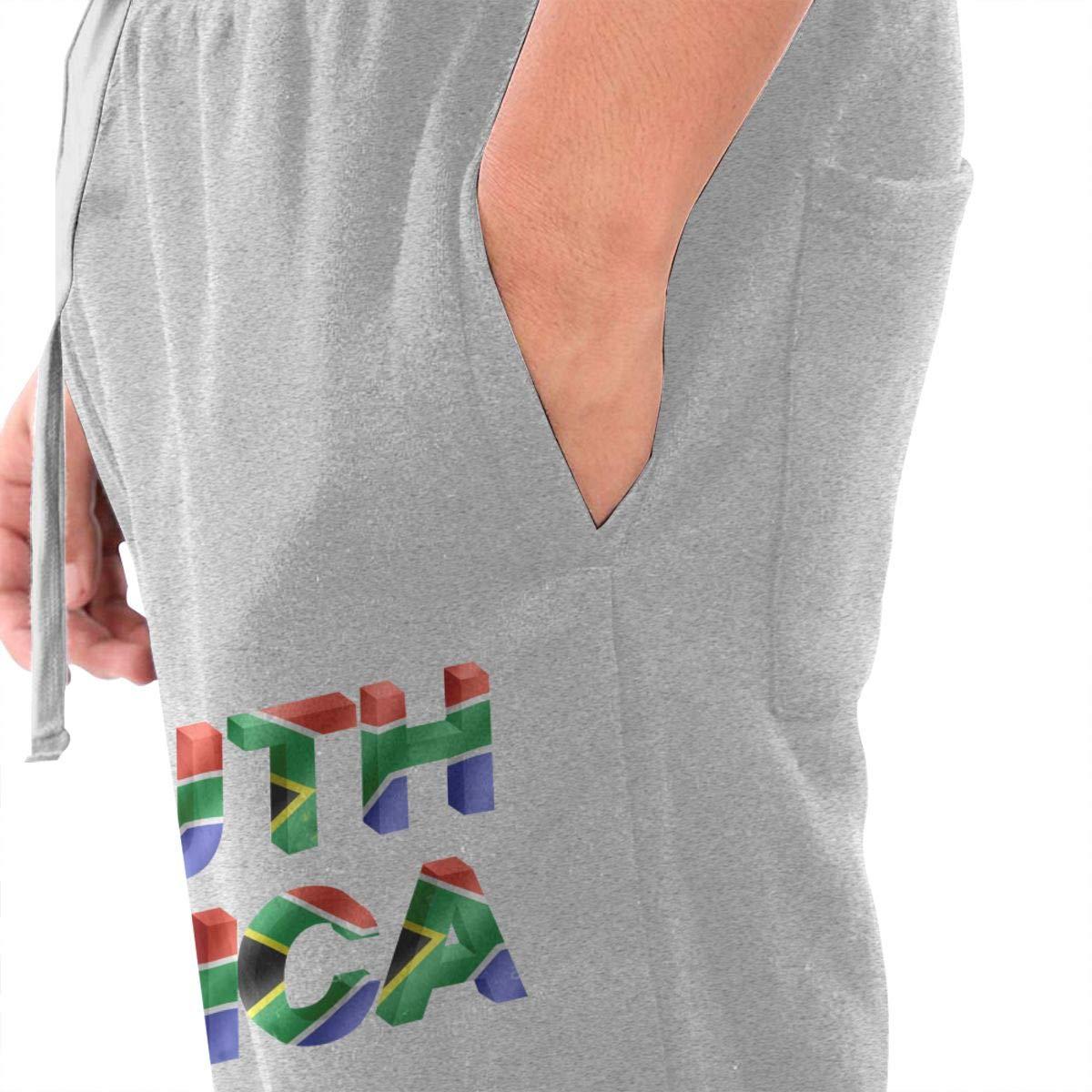 Numik South Africa 3D with Flag Drawstring Waist,100/% Cotton,Elastic Waist Cuffed,Jogger Sweatpants