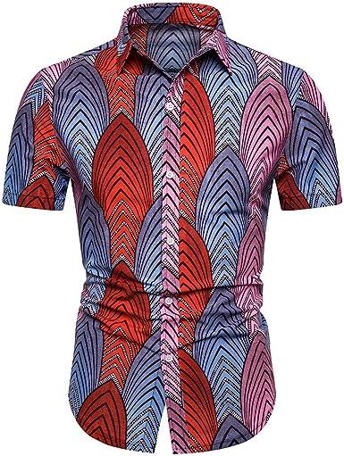 Cocoty-store 2019 Camisa Hawaiana Hombre Casual Manga Corta Unisex 3D Impresión Verano Playa Funny Hawaii Shirt,S/M/L/XL/2XL,Rojo: Amazon.es: Ropa y accesorios