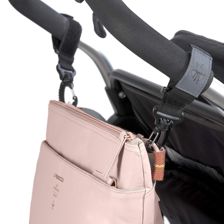 rosa L/ÄSSIG Bauchtasche Buggytasche Kinderorganizer mit Kinderwagenbefestitung//Tyve Buggy Bag