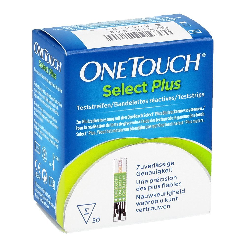 Onetouch Select Plus Blood Glucose Test Strips Pack of 50