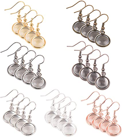 Amazon Com Earring Wire Hooks 28 Pieces 7 Colors Dangle Tray