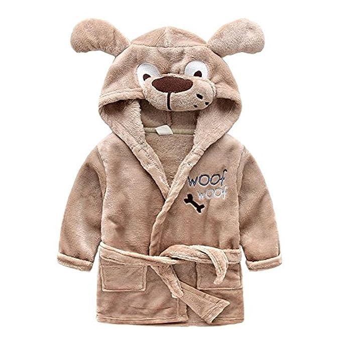 Amazon.com: Kids Little Boys Girls Hooded Christmas Deer Pajamas ...