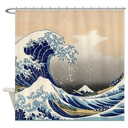 Amazon CafePress Japanese Tsunami Wave Shower Curtain