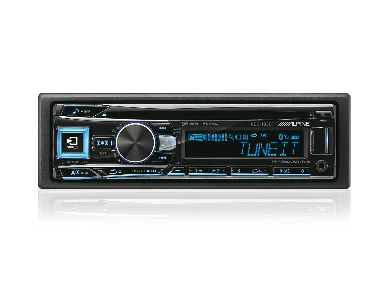 Alpine CDE BT Radio para coches W USB Aux RDS SSP con