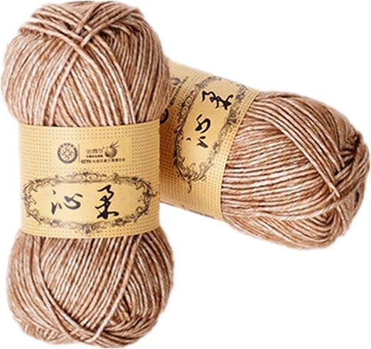 Cherise 2 madejas teje a mano el hilo de algodón del bebé del ...