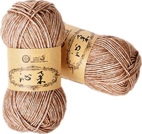 Cherise 2 madejas teje a mano el hilo de algodón del bebé del ganchillo del hilo de algodón caliente Dk Línea de bebé para Blanco: Amazon.es: Hogar