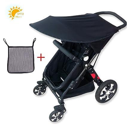 Adesugata Cochecito de Bebé,Sombrilla Para Cochecito,Bebé Carrito Parasol, UV Protección Rayos