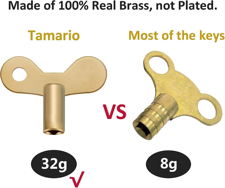 Radiator Key Tool for Bleeding Radiators Durable Solid Brass Body
