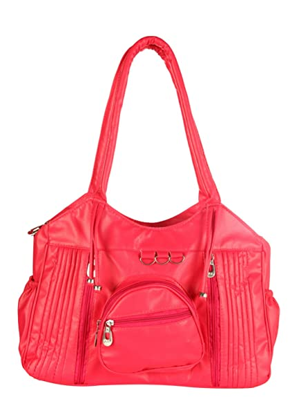 57ee522c4f Paras Fashions Stylish Pink Color Shoulder Bag for Girls Synthetic Leather  Handbag for Women  Amazon.in  Shoes   Handbags