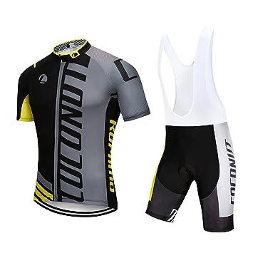 df4ece433 Coconut Ropamo Pro Team Mens Cycling Jersey Bike Bib Shorts With 3D Gel  Padded
