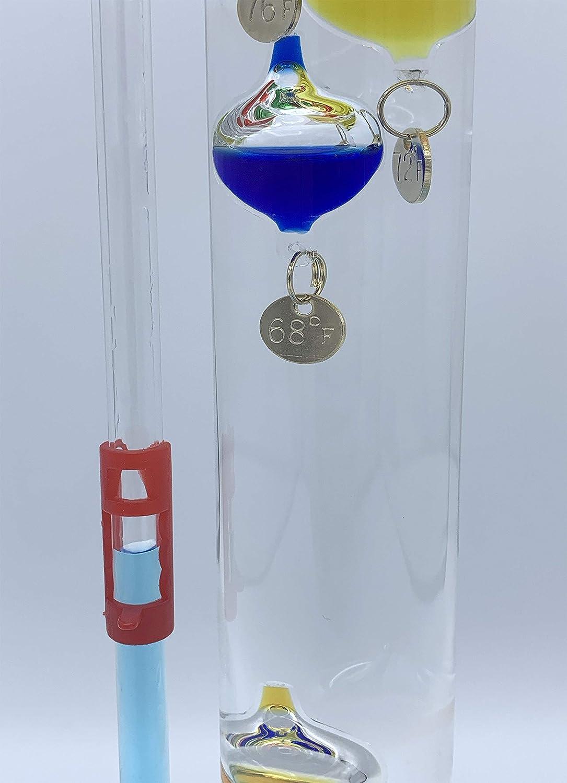 Glassic Gifts Galileo Thermometer//Goethe Ball Barometer Combo Unit