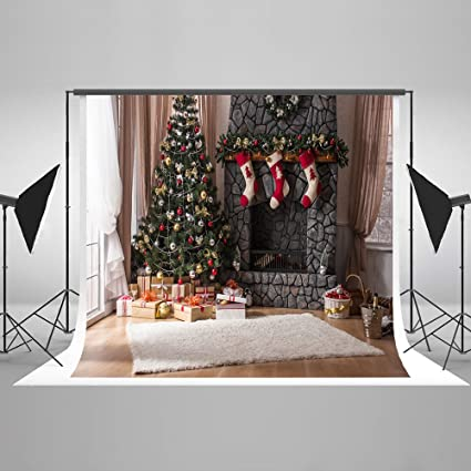 kate 10ftw x10fth christmas backdrop for photography fireplace background microfiber