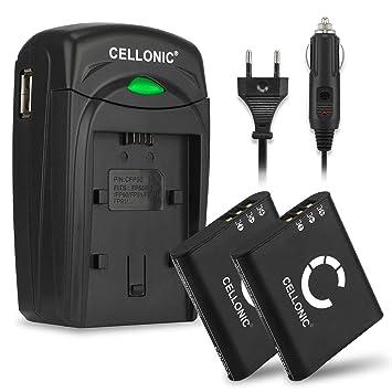 CELLONIC 2X Batería Compatible con Olympus Stylus Tough TG-4 TG-1 TG-5 TG-Tracker Stylus SH-1 Traveler SH-2 SH-50 SH-60 SP-100ee XZ-2 DS-9000 DS-9500 ...