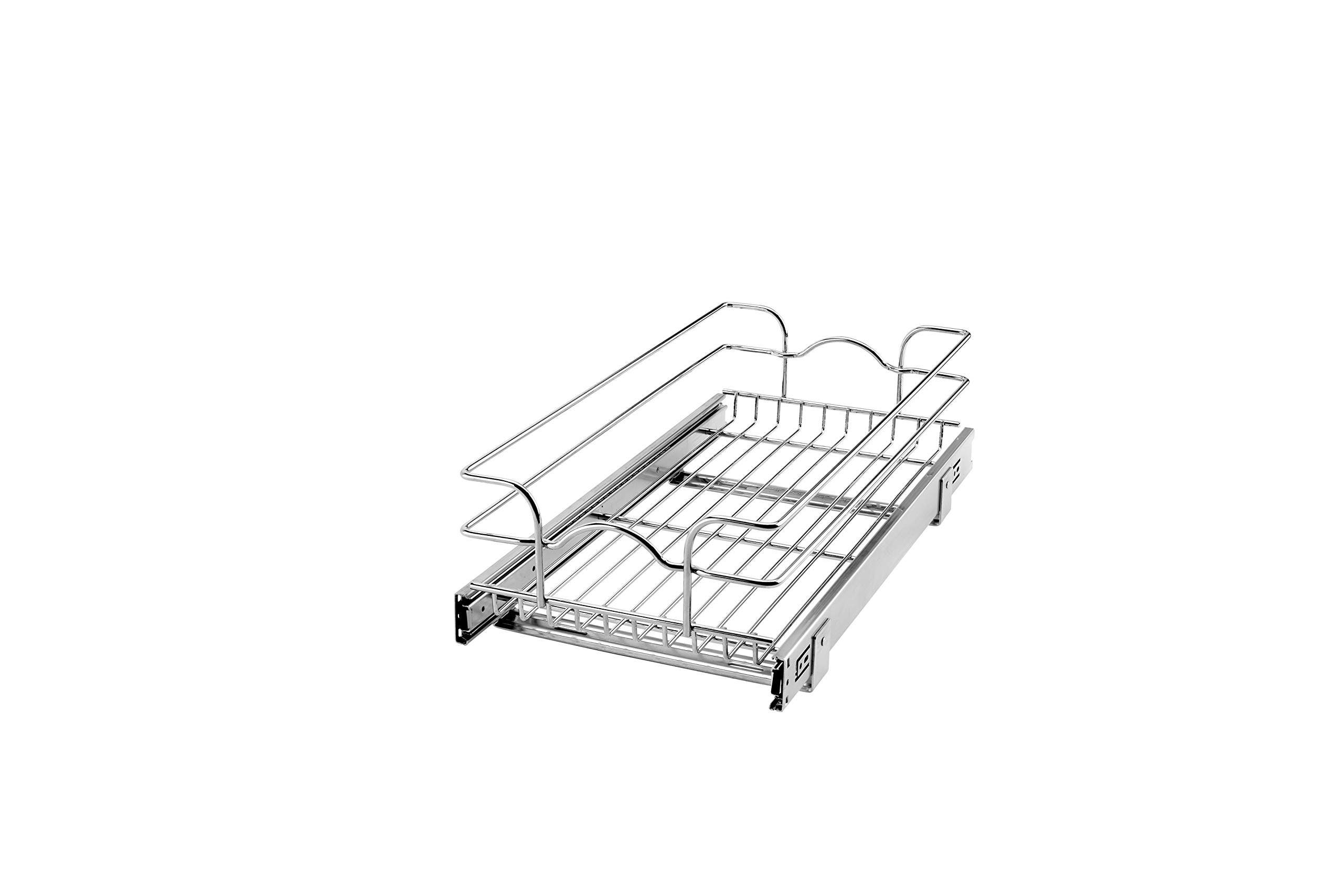 Rev-A-Shelf - 5WB1-1222-CR - 11 3/8 in. W x 22 in. D Base Cabinet Pull-Out Chrome Wire Basket
