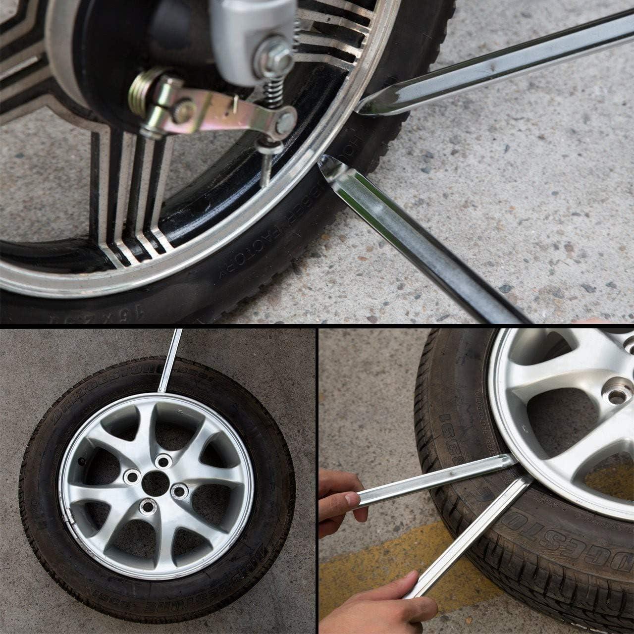 Juego 2 palancas desmontadores de neumaticos 450mm furgoneta desmontadores coche Desmontable de ruedas de llantas de moto