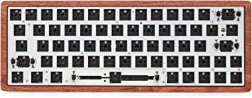 GK64 CNC Case Kit hot swappable gk64 PCB Custom Mechanical Keyboard RGB SMD Switch LEDs Type c USB Port can Match Most gh60 Plate Wooden CNC case