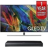 Samsung QN65Q7F Flat 65-Inch 4K Ultra HD Smart QLED TV (2017 Model) w/ Samsung 4K Ultra HD Blu-ray Player & 1 Year Extended Warranty