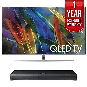 samsung tv qled. samsung qn65q7f flat 65-inch 4k ultra hd smart qled tv (2017 model) tv qled