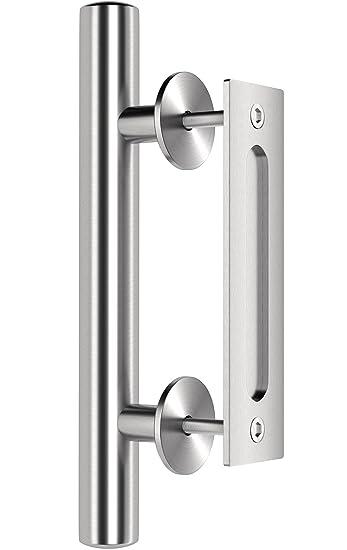 Amazon.com: Premium Stainless Steel Modern Barn Door Handle 12\