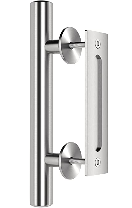 Amazon Premium Stainless Steel Modern Barn Door Handle 12 Pull