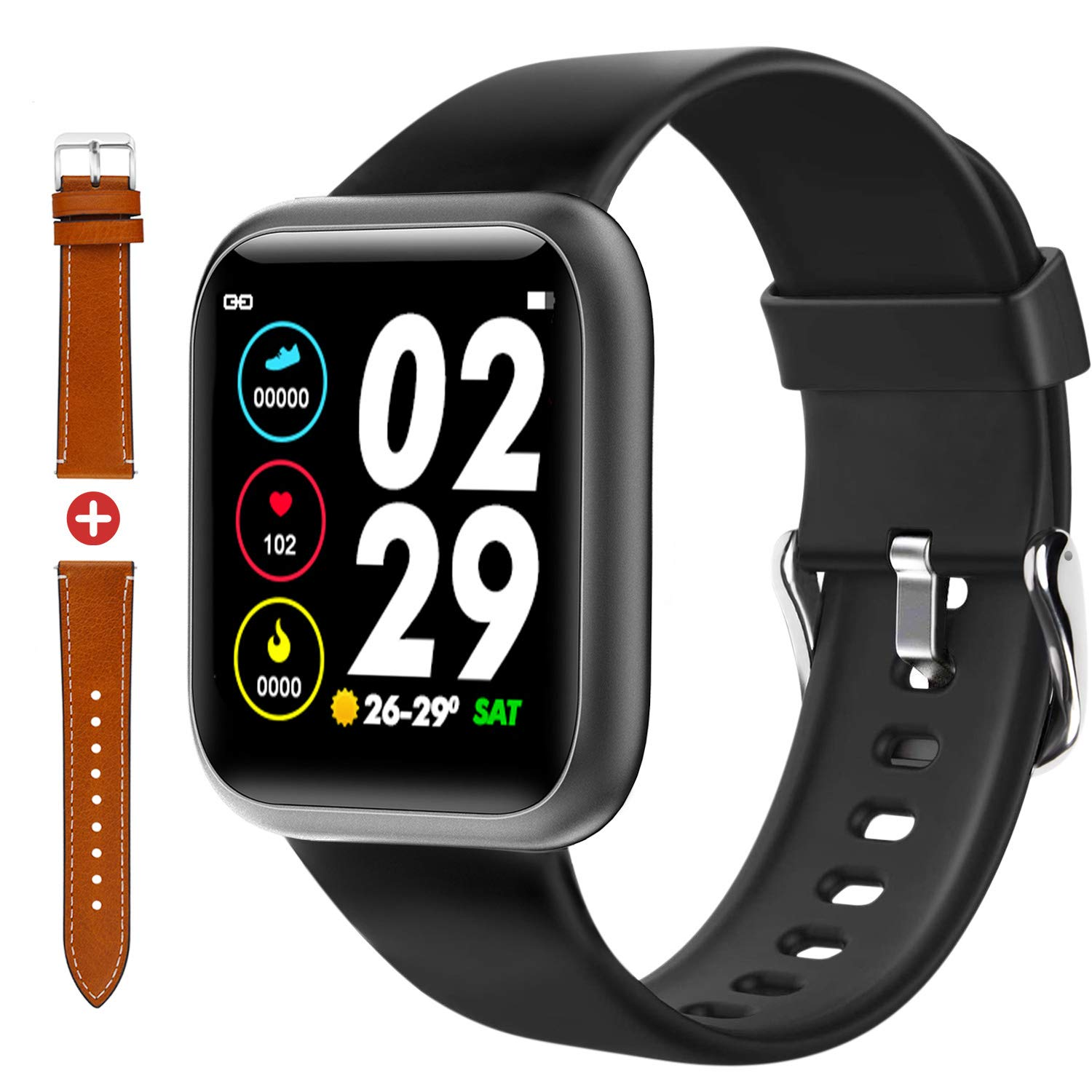 Fullmosa Smart Watch Fitness Tracker with Heart Rate Monitor 1.4 Inch Touch