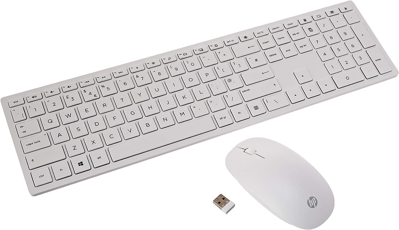 HP Pavilion 800 - Pack con teclado y ratón inalámbricos (delgado ...