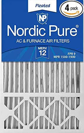 Nordic Pure 22x22x1 MPR 1900 Healthy Living Maximum Allergen Reduction Replacement AC Furnace Air Filters 2 Pack