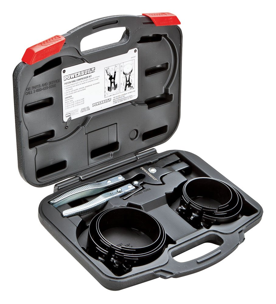 Powerbuilt Alltrade 940387 Kit 69 Piston Ring Compressor Tool Set