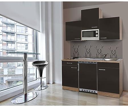 respekta Single Mini Küche Küchenzeile Küchenblock 150 cm ...