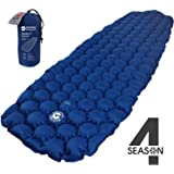 ECOTEK Outdoors Insulated Hybern8 4 Season Ultralight Inflatable Sleeping Pad with Contoured FlexCell Design - Easy…