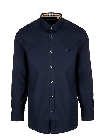 0c74e84d770 BURBERRY Homme 8003073 Bleu Coton Chemise  Amazon.fr  Vêtements et ...
