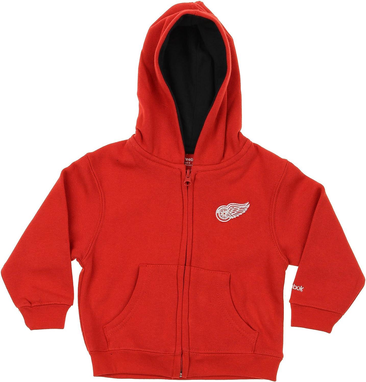 Detroit Red Wings NHL Little Boys Toddler Full Zip Fleece Hoodie, Red 7182QBNdaeL