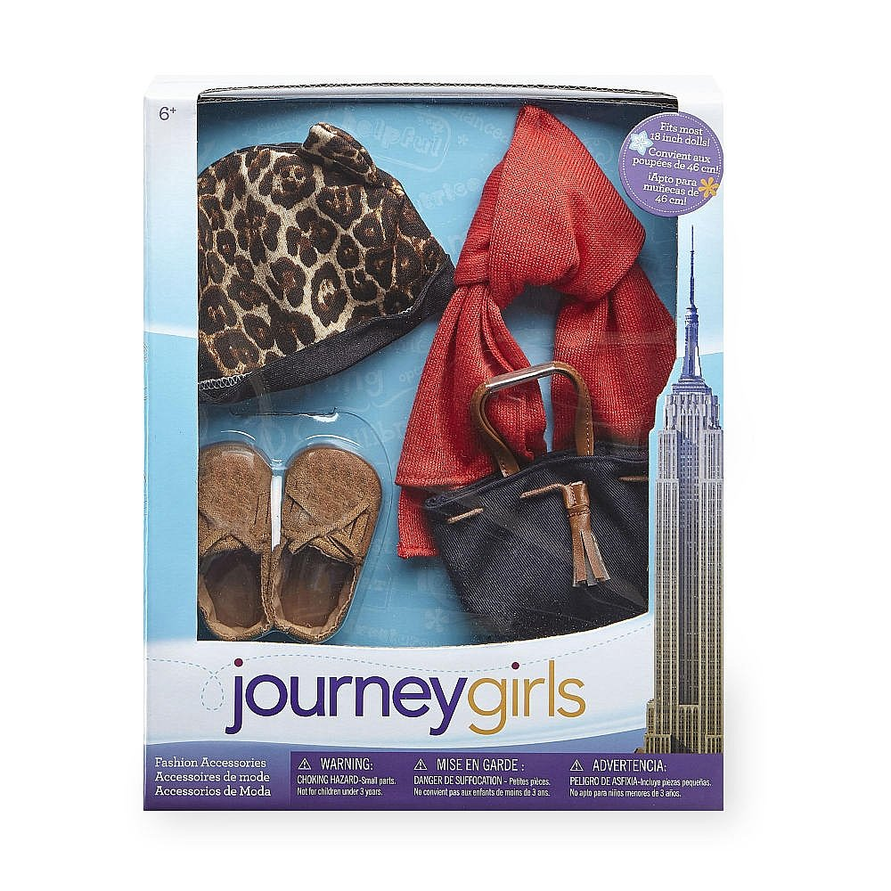 Amazon.com: Journey Girls Leopard Beanie and Moccasins Fashion: Toys & Games