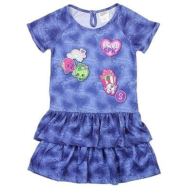 amazon com shopkin girls denim heart dress clothing