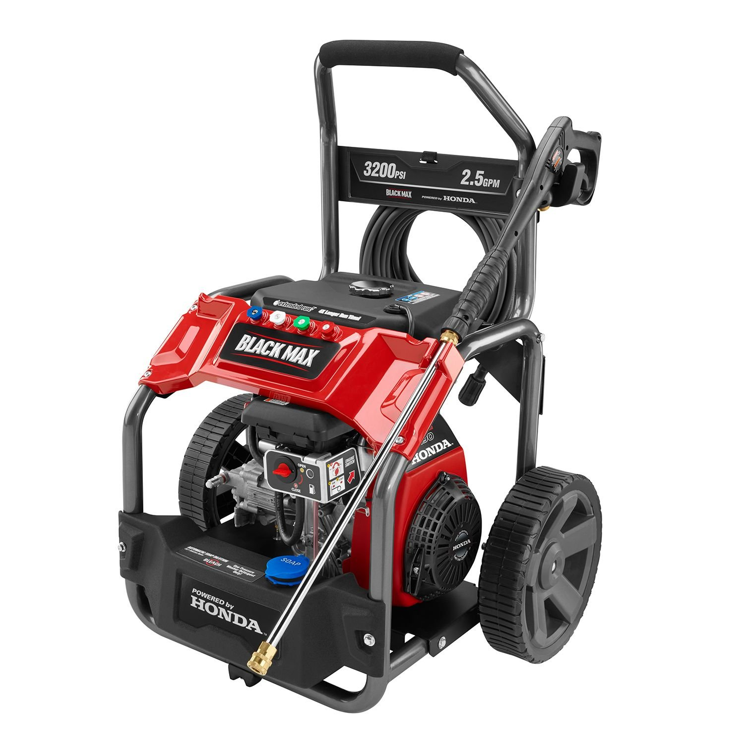Amazon.com : Black Max 3200 PSI Extended Run Gas Pressure Washer (Powered  By Honda) : Garden U0026 Outdoor