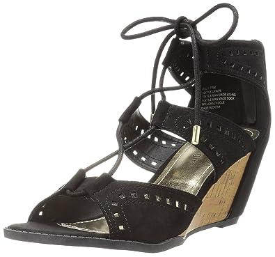 Madden Black Noir Couleur Girl Fabric Femmes Sandales Compensées vI76gyYbf