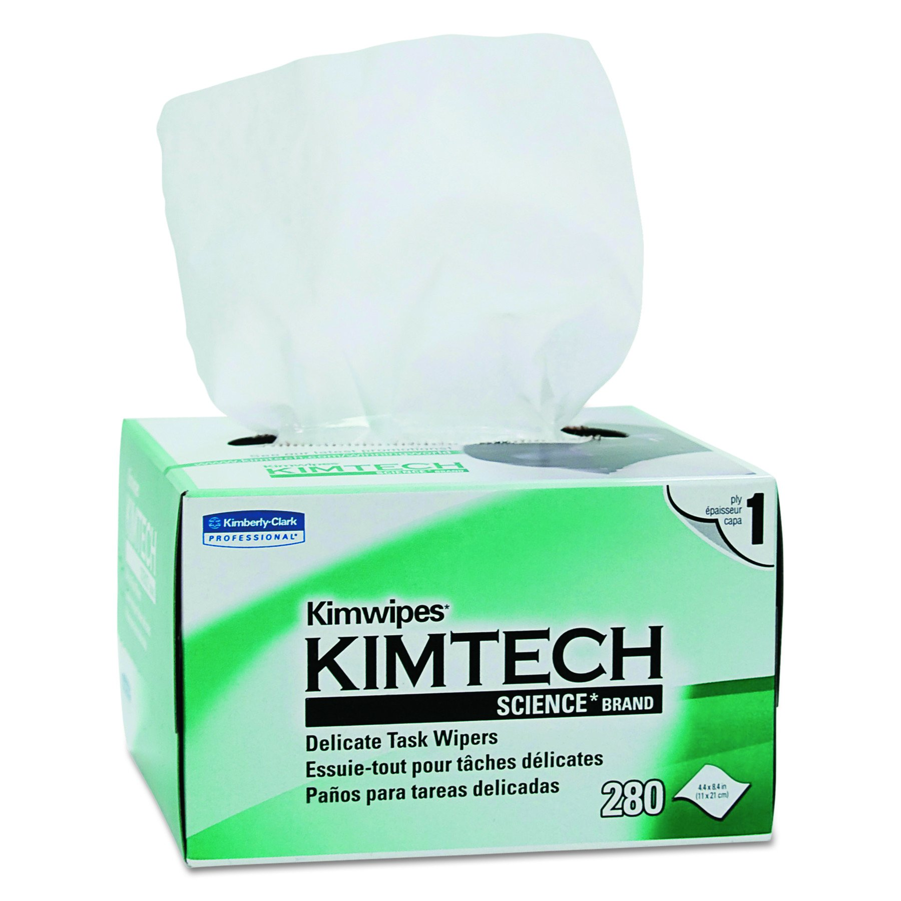 Kimwipes Delicate Task Kimtech Science Wipers (34120), White, 1-PLY,