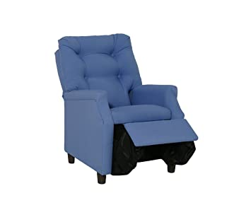 Strange Harmony Kids Deluxe Recliner Blue Cotton Pabps2019 Chair Design Images Pabps2019Com