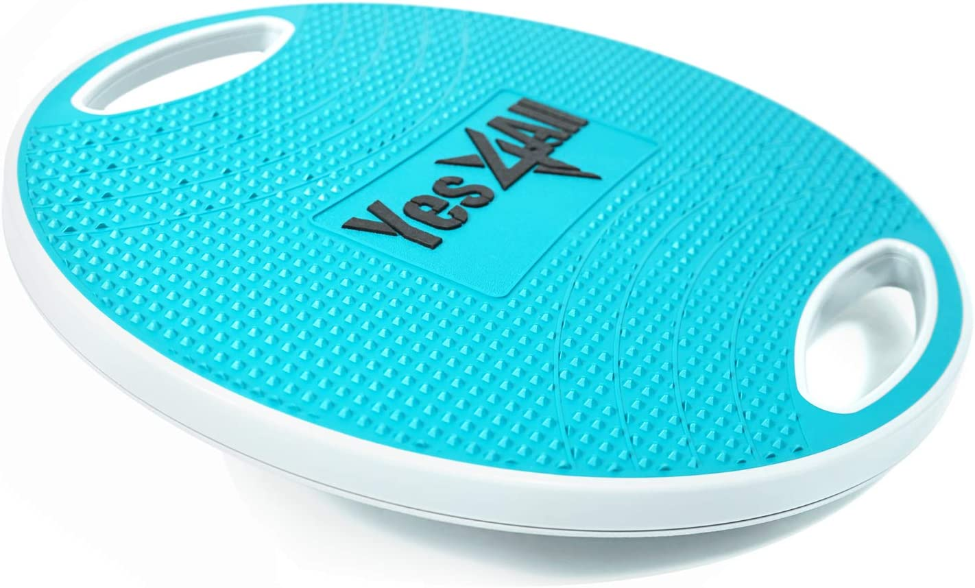 Yes4All Wobble Balance Board with Handles Non-Slip Surface 16.34 inch Plastic Balance Board