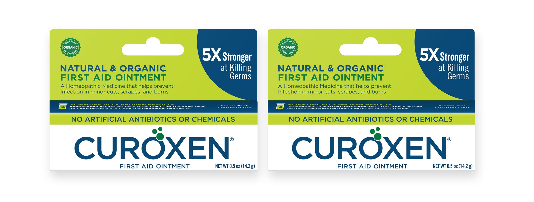 CUROXEN All-Natural & Organic First Aid Ointment with No Antibiotics or Chemicals, 2 Pack