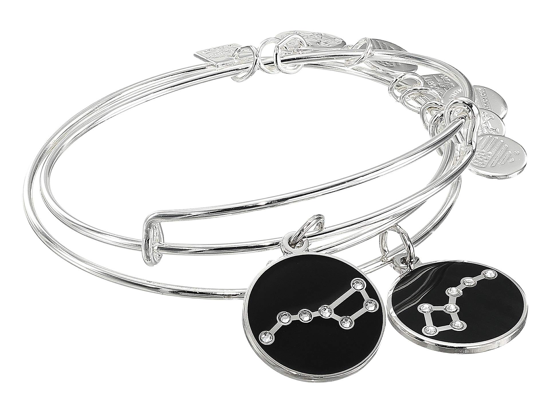 Alex and Ani Women's Charity by Design Big and Little Dipper Set of 2 Bracelet, Shiny Silver
